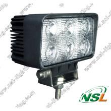 Luz de trabajo campo a través del tractor de la luz 12W 24V del trabajo del camión de 18W LED