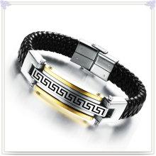 Edelstahl Armband Leder Schmuck Leder Armband (LB101)