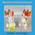 Creative strawberry shaped fruit fork gift set in ceramic material