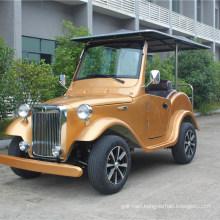 Zhongyi Electric Vehicle 4 Seats Golden Color Classic Car