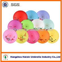 Paraguas de papel hecho a mano chino del aceite de oliva del eje