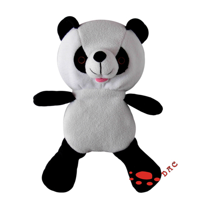 Stuffed faux fur panda puppet