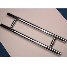 Conjunto de manija de puerta de vidrio pulido de acero inoxidable 304