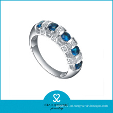 925 Sterling Silber Gravierter Verlobungsring