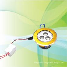 Nuevo producto para el oro 2014 llevó empotrado downlight 3w forma redonda cuadrada
