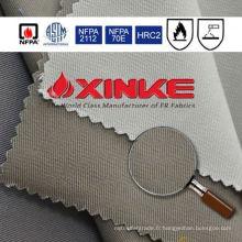 Tissu ignifuge haute perméabilité pour veste rouge réfléchissante de sécurité