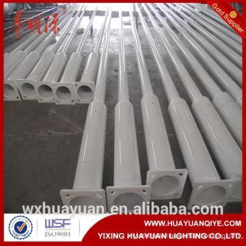 6m 8m height road street curved arm steel tubular pole