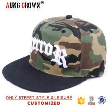 Sombrero de la gorra de béisbol del snapback del camo