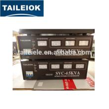 Ac estabilizado tensão de alimentação refrigerador trifásico estabilizador de tensão SVC-4.5KVA
