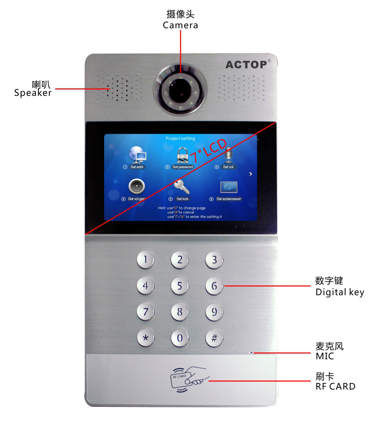 Wired Doorbell Intercom System