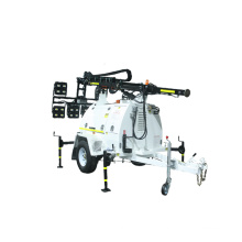 Night Construction Manual Diesel Mobile Construction Site LED Light Tower