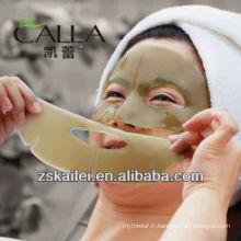 masque faïen de thé vert de collagène