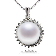 Snh 12mm Big Size Pendant Pearl Necklace