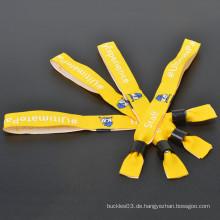 Fabrikwebart Tuch Wristband für Festival-Events