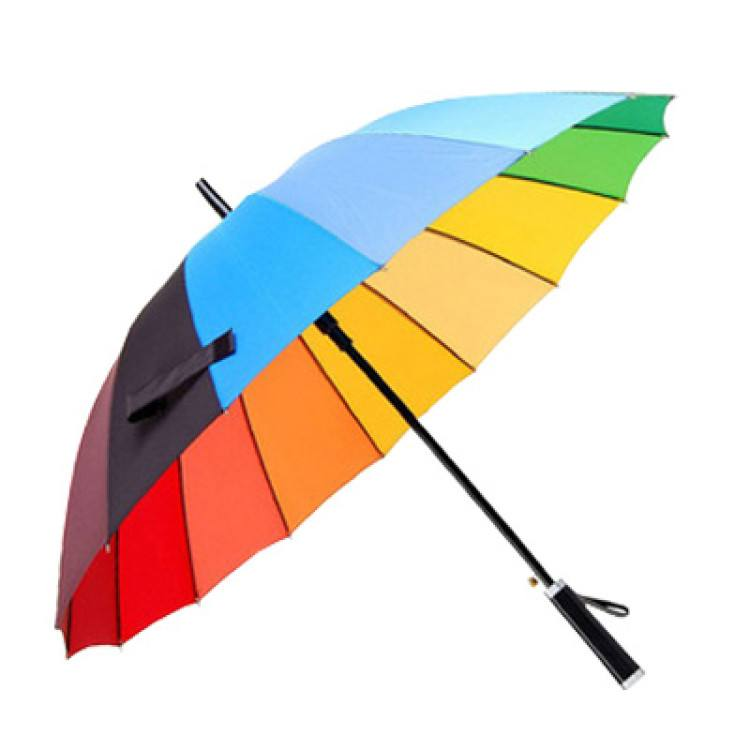 25inch semi automatic wooden handle men umbrella01