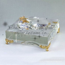 China professioneller Herstellung Phantasie Kristallglas Zigarren Aschenbecher, Glas Aschenbecher, Gravur Crystal Aschenbecher