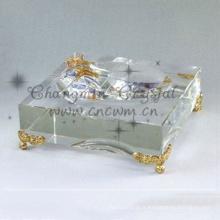 Chine professionnel fabrication fantaisie cendrier en verre de cigare en cristal, cendrier en verre, cendrier en cristal gravé
