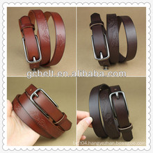 Fashion high quality ladies leather belt wholesaler