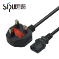 SIPU ce de alta calidad certificada uk 3 core power cable Mejor precio 3 * 0.75mm2 cable de alimentación de la computadora