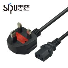 SIPU Kupfer-PVC-Ummantelung AC UK mit Stecker Netzkabel für PC