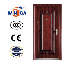 Puerta de acero del exterior del metal del hierro de la seguridad popular del estilo de Nigera (WS-127)