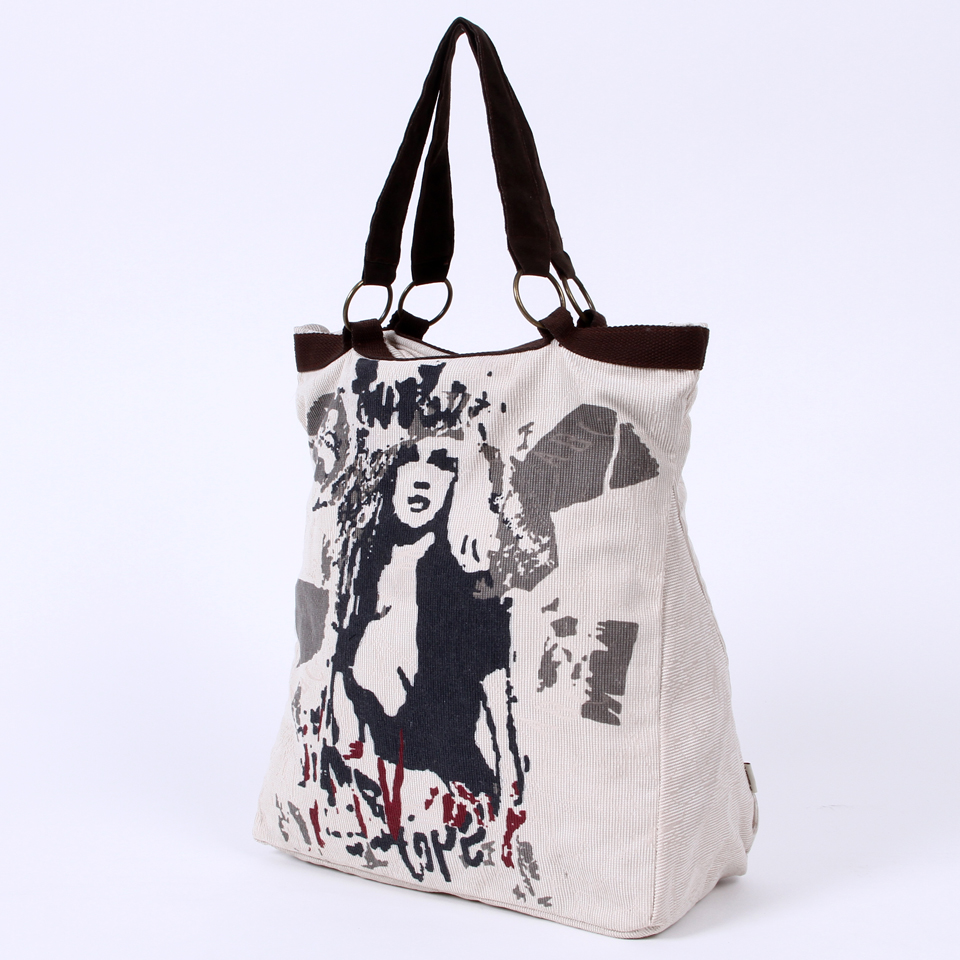 Single shoulder canvas bags