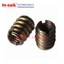 2016 gros fabricant de zinc en acier de noix de cannelure pour bois