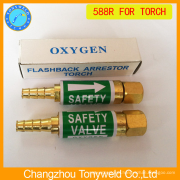 custom tig welding torch 588 flashback arrestor