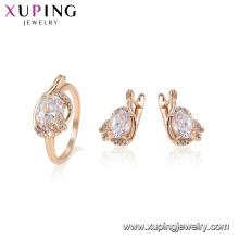 64741 xuping Китая оптом обручальное кольцо животных бабочка серебряный цвет комплект ювелирных изделий