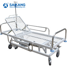 SKB038-3 Stainless Steel Medical Transport Trolley With Castors