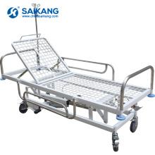 Trole médico de aço inoxidável do transporte SKB038-3 com rodízios
