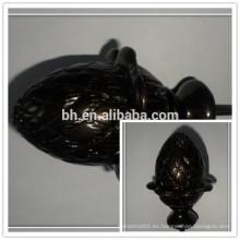 Cortina de resina de poliéster de chocolate Finial, Cortina de resina Cortina de rodillo
