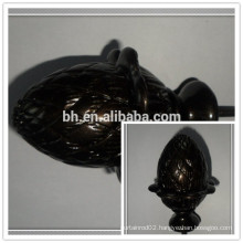 Chocolate Poly Resin Curtain Finial,Resin Curtain Rod Finial