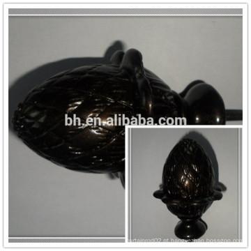 Cortina de resina de poliuretano de chocolate Finial, cortina de resina Rod Finial