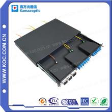Cassette optique de fibre d'acier laminée à froid 24core MPO