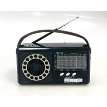 GOLON RX67 FM AM SW 3 Band Vintage Retro Radio Rechargeable Radio With Solar With Light With USB SD TF