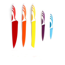 The most popular non-stick colorful kitchen knife set