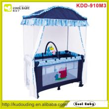 Fábrica por atacado bebê Playpen com mosquito net brinquedo bar com 3 brinquedos