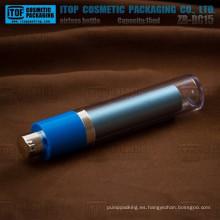 Excelente calidad de ZB-RC15 15ml redondo doble capa 0.5oz redondo botellas sin aire girar ojos