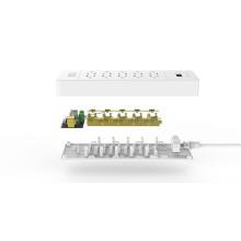 ORICO USP-10A3U-US Maison entière de bureau Surge Protector 10 * AC + 3 * USB Charger