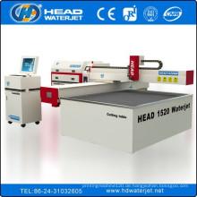 Tischmaß 1500 * 2000mm Wasserstrahl für die Arbeit mit 1-10mm Stahl Metallschneiden