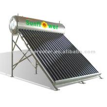 Calentador solar de agua caliente de acero inoxidable