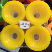 high quality nice looking PU castin longboard wheels parts