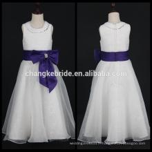 Robes de première communion pour les filles Robe sans manches en robe de bal avec robe