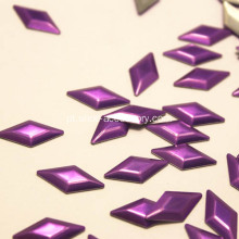 Diamante HotFix Metal Studs roxo 6x12mm