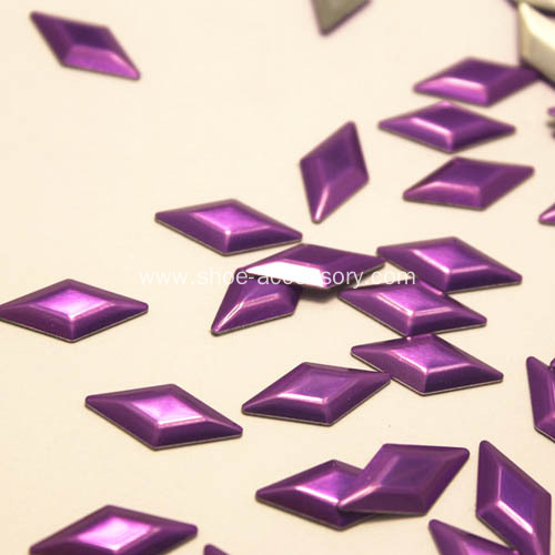 Diamond HotFix Metal Studs Purple 6x12mm