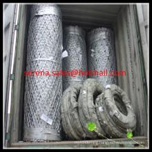 Hot galvanized weld razor barbed military wire mesh fence