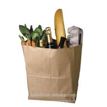 pas cher sac en papier kraft sans poignée