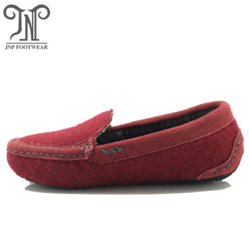 Comfortable moccasin women fluffy indoor slippers