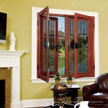 Aluminiumlegierung Türen und Fenster / Aluminiumflügelfenster mit Moskitonetz